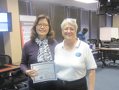 ISO 9001:2015 Training Picture - Alina Hu and Mary Chimarusti