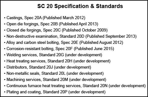 SC20 Specifications and Standards List