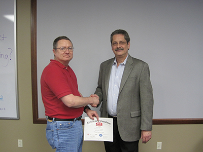API Lead Auditor Training Picture - Greg Thompson (CST Industries) and Bud Weightman (President and Master Trainer)