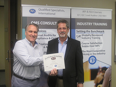 API Lead Auditor Training Picture - Kent Varner and Bud Weightman
